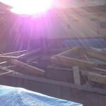 青葉の家の土台敷きの現場です