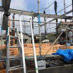 美和台プロジェクト、無事に棟上げが終わりました。