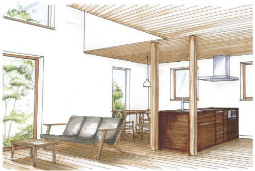 南庄プロジェクト「家族の絆を育む家 室見川」の内装