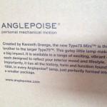 ANGLEPOISE Type75 Mini(アングルポイズ タイプ75 ミニ)・インテリア紹介