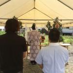 ファイヤーワールド福岡(五大)様のショールーム建設、地鎮祭でした。