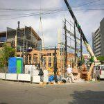 上棟、建物のプロポーションがわかります[でんホーム新モデルハウス記 6]