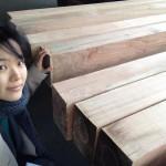 木配りに立ち会いました。