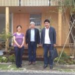 秋山東一様(建築家)、眞木健一様(マキハウス社長)にご来訪頂きました
