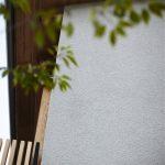 そとん壁の下塗り-自然素材の外壁をつくってます[でんホーム新モデルハウス記 10]